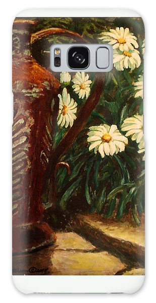 Copper And Daisies Galaxy Case