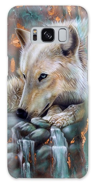 Copper Arctic Wolf Galaxy Case