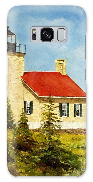 Copper Harbor Lighthouse Galaxy Case by Lee Piper