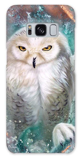 Copper Snowy Owl Galaxy Case