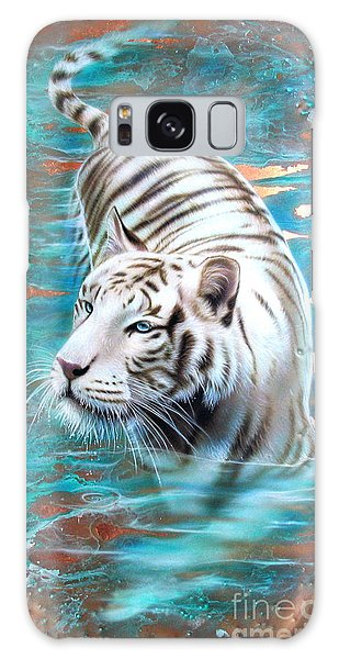 Copper White Tiger Galaxy Case