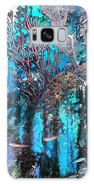 Reef Diving Galaxy Case - Coral Forest by Ursula Freer