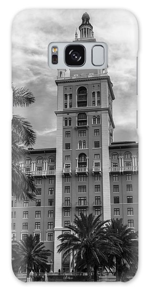 Coral Gables Biltmore Hotel In Black And White Galaxy Case