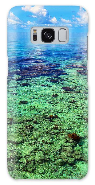 Coral Reef Near The Island At Peaceful Day. Maldives Galaxy Case