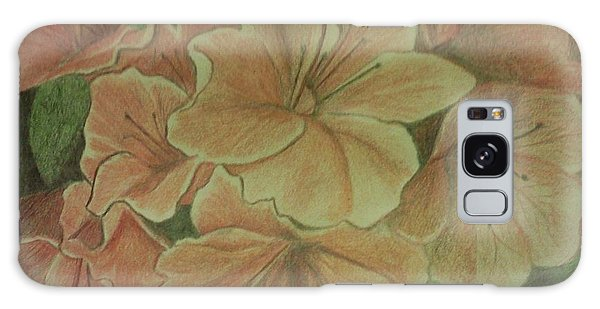 Coral Sunburst Azaleas Galaxy Case by Christy Saunders Church