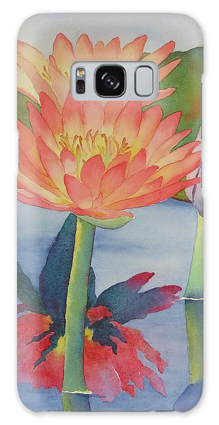 Coral Waterlilies Galaxy Case by Judy Mercer