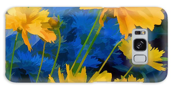 Coreopsis - Yellow And Blue Galaxy Case