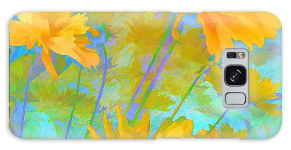 Coreopsis - Yellow And Green Galaxy Case