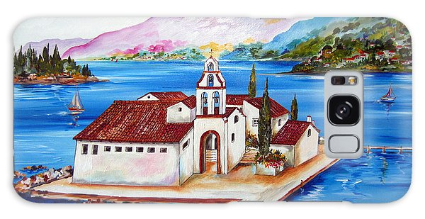 Corfu' Convent Of The Virgin Mary On Vlachema Galaxy Case by Roberto Gagliardi