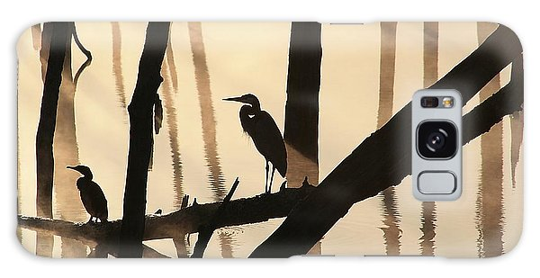 Cormorant And The Heron Galaxy Case