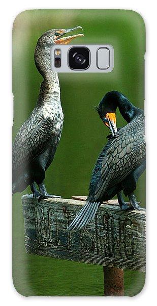Cormorant Courtship Galaxy Case