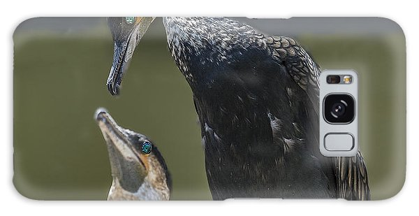 Cormorant Pair Looking At Each Other Lovingly Galaxy Case