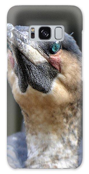 Cormorant Portrait Galaxy Case