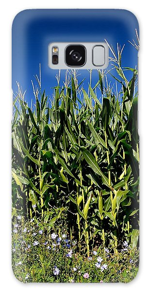 Corn And Wildflowers Galaxy Case