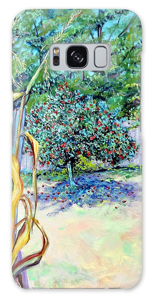 Corn Stalk And Apple Tree  Autumn Lovers Galaxy Case by Asha Carolyn Young