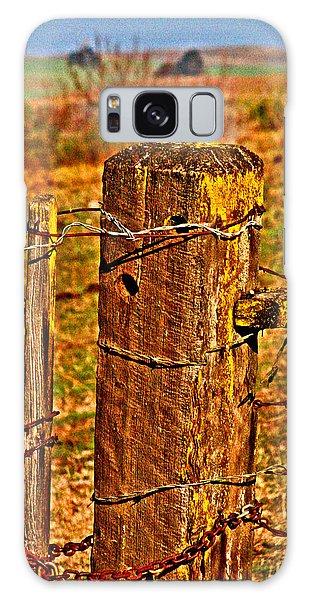 Corner Post At Gate Galaxy Case