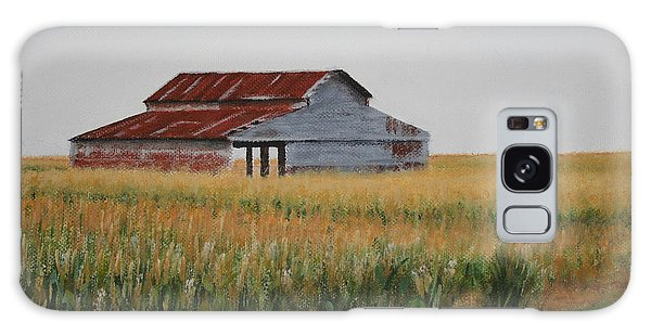 Cornfield Barn Galaxy Case