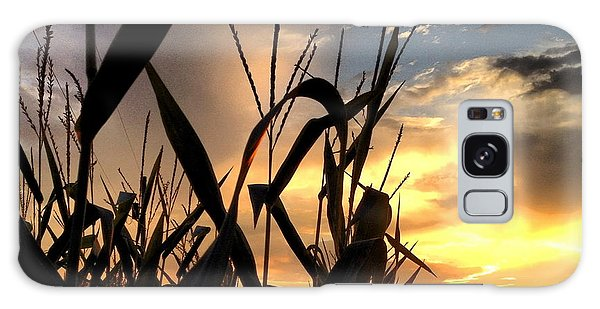 Cornfield Sundown Galaxy Case