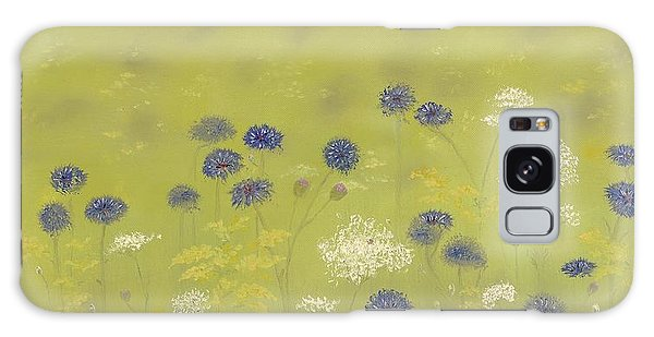 Cornflowers And Queen Anne's Lace Galaxy Case