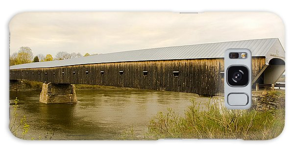 Cornish - Windsor Covered Bridge Galaxy Case by Betty  Pauwels