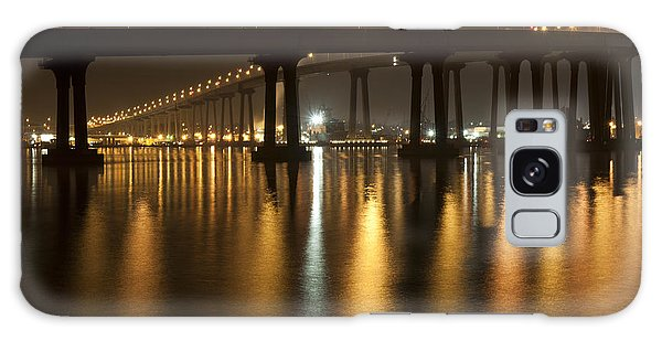 Coronado Bridge At Night Galaxy Case
