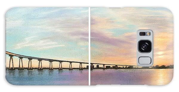Coronado Bridge Sunset Diptych Galaxy Case