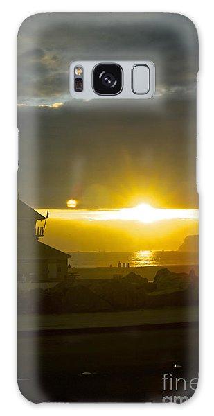 Coronado's Beach At Sunset Galaxy Case by Claudia Ellis