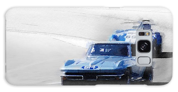Cobra Galaxy Case - Corvette And Ac Cobra Shelby Watercolor by Naxart Studio