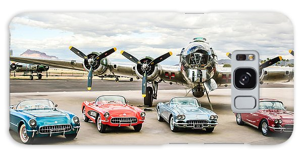 Bomber Galaxy Case - Corvettes And B17 Bomber -0027c23 by Jill Reger