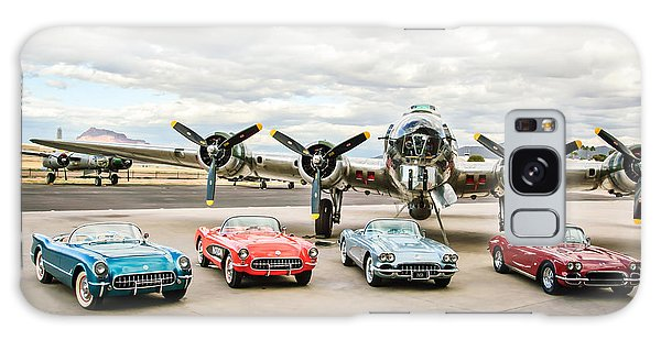 Bomber Galaxy Case - Corvettes And B17 Bomber by Jill Reger