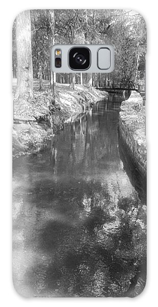 Cosley Forest Canal In Black And White Galaxy Case