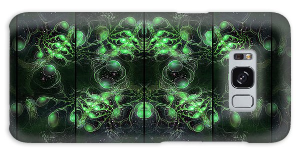 Cosmic Alien Eyes Green Galaxy Case by Shawn Dall