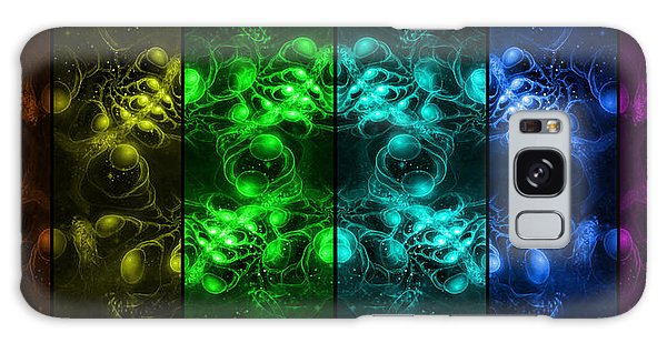 Galaxy Case featuring the digital art Cosmic Alien Eyes Pride by Shawn Dall