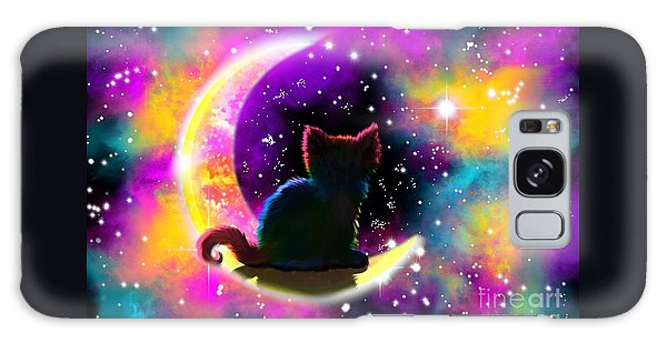 Cosmic Cat Galaxy Case by Nick Gustafson
