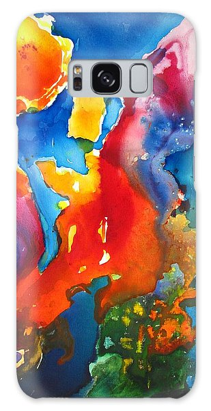 Cosmic Fire Abstract  Galaxy Case by Carlin Blahnik