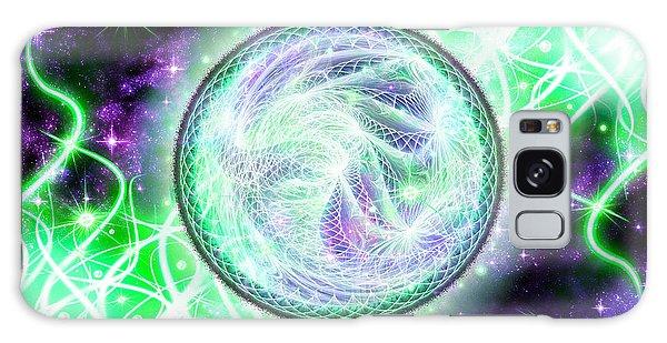 Galaxy Case featuring the digital art Cosmic Lifestream by Shawn Dall