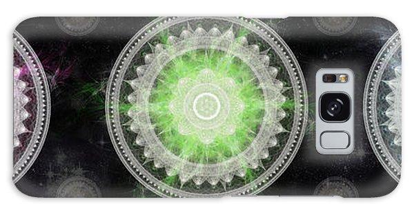 Galaxy Case featuring the digital art Cosmic Medallians Rgb 1 by Shawn Dall