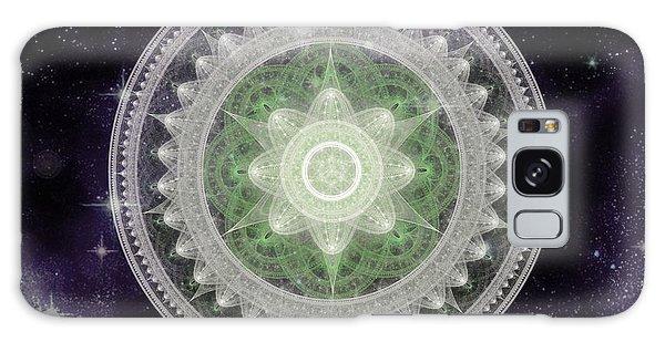 Galaxy Case featuring the digital art Cosmic Medallions Earth by Shawn Dall