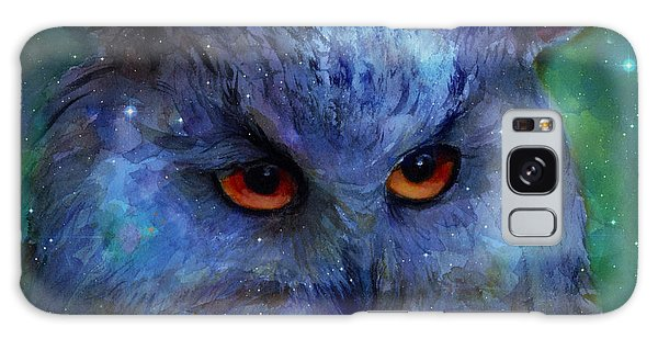 Cosmic Owl Painting Galaxy Case