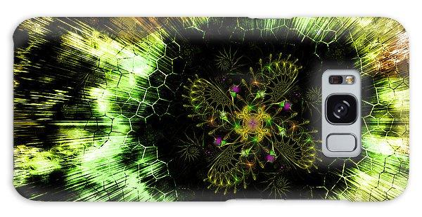 Galaxy Case featuring the digital art Cosmic Solar Flower Fern Flare by Shawn Dall