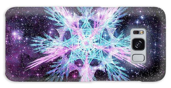 Galaxy Case featuring the digital art Cosmic Starflower by Shawn Dall