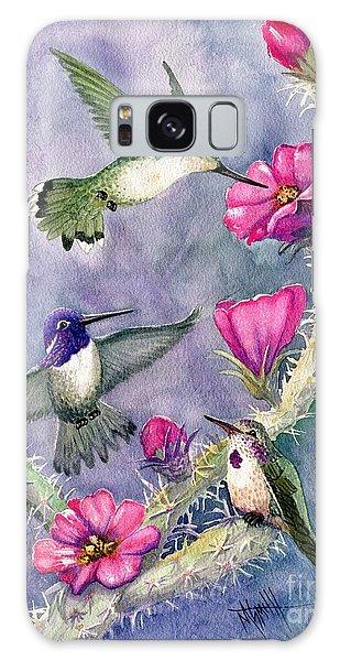 Costa Hummingbird Family Galaxy Case by Marilyn Smith