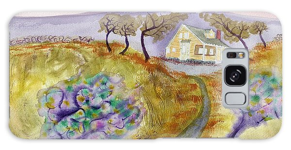Cottage By The Purple Trees Galaxy Case