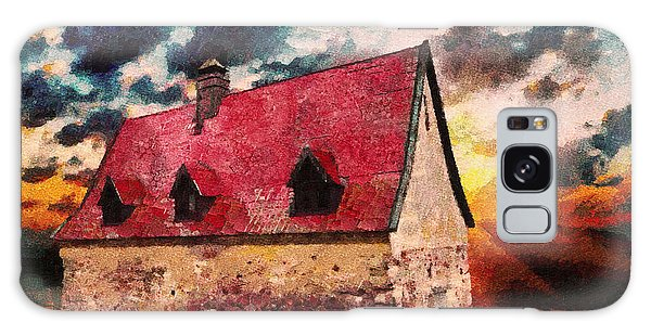 The Sky Galaxy Case - Cottage By The Sea - Abstract Realism by Isabella Howard