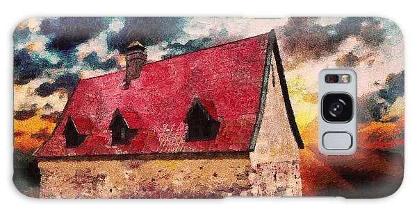 Cottage Galaxy Case - Cottage By The Sea - Abstract Realism by Georgiana Romanovna