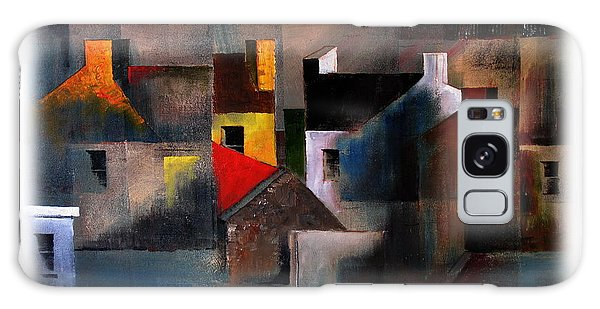 Cottage Galaxy Case - Cottage Gables by Val Byrne