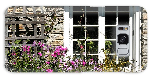 Cottage Garden Window Galaxy Case by Living Color Photography Lorraine Lynch
