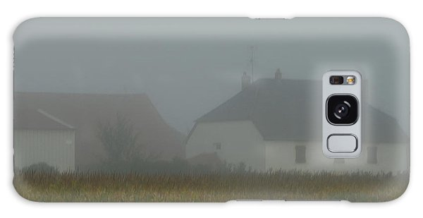 Cottage In Mist Galaxy Case
