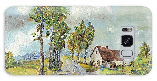 Cottage On Poplar Lane Galaxy Case by Mary Ellen Anderson