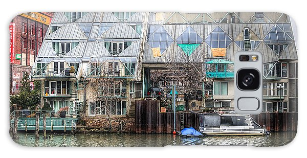 Cottages On The River Galaxy Case by Michael  Bennett